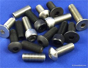 Socket Cap Screws, socket, flat, button, head, set screws, fine and course thread, alloy and stainless steel