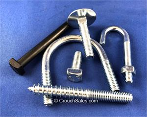 elevator bolts, j bolts, u bolts, square head bolts