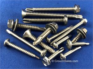 Self-Drilling Tek Screws Stainless Steel